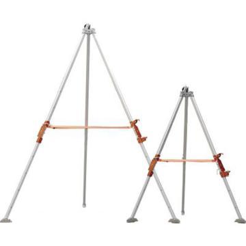 代尔塔DELTAPLUS 三脚架,505025-26,双卡盘铝质三脚架2米版+专用包