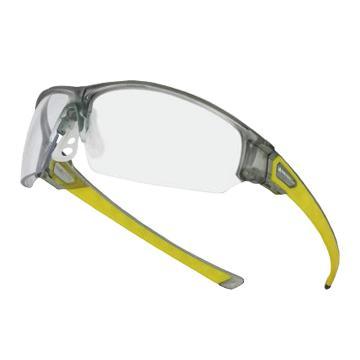代尔塔DELTAPLUS 防护眼镜,101150,ASO CLEAR 防雾防刮擦 D-PAD鼻梁架 透明镜片