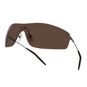 代尔塔DELTAPLUS 防护眼镜,101137,SLINA SMOKE 复古飞行员款 防雾防刮擦 棕色镜片