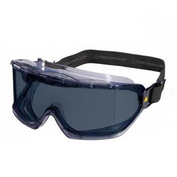 代尔塔DELTAPLUS 护目镜,101129,GALERAS SMOKE 防雾防刮擦防强光 黑色镜片
