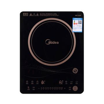 美的(Midea)匀火电磁炉, C21-RT2170,多功能智能触摸家用火锅炉 标配送炒锅和汤锅