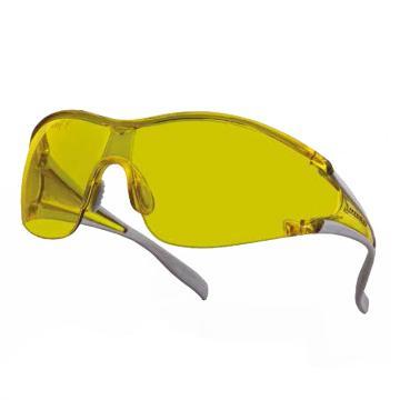 代尔塔DELTAPLUS 防护眼镜,101127,EGON YELLOW 时尚型 防雾防刮擦 黄色镜片