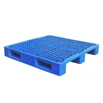 西域推荐 塑料托盘,网格川字,尺寸(mm):1200*1000*150,蓝色 动载1.2T 静载4T,带三根钢管