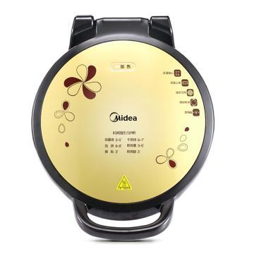 美的(Midea)电饼铛,JHN34Q,1500W 34cm 双面加热 悬浮加深多功能电饼铛