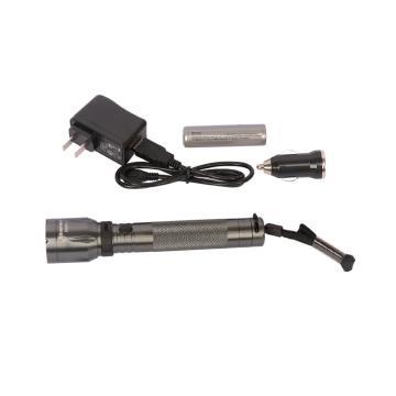 钢盾SHEFFIELD LED充电式手电筒,3W,S030010,强光防水手电筒照明工具