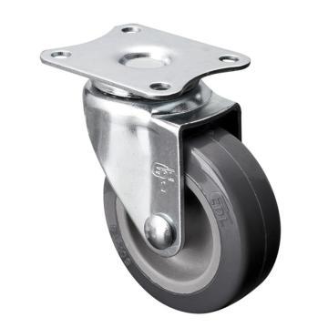 易得力(EDL) 平顶万向聚氨酯(PU)脚轮,脚轮小型2寸30kg,20112-202-72