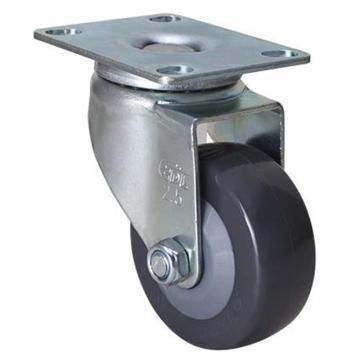 易得力(EDL) 平顶万向聚氨酯(PU)脚轮,脚轮轻型2.5寸70kg,361125-3625-74