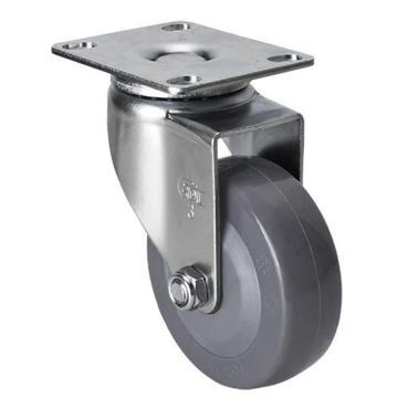 易得力(EDL) 平顶万向聚氨酯(PU)脚轮,脚轮轻型3寸70kg,36113-363-74