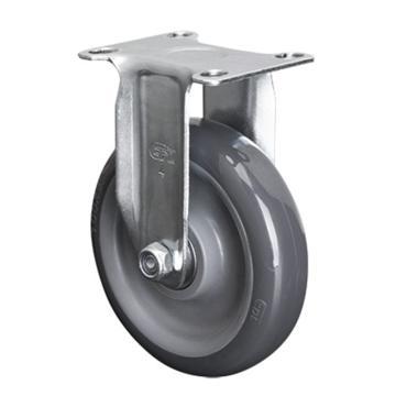 易得力(EDL) 定向聚氨酯(PU)脚轮,脚轮轻型4寸80kg,36104-364-76