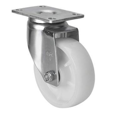 易得力(EDL) 平顶万向尼龙(PA)脚轮,脚轮中型4寸150kg,50114-504-26