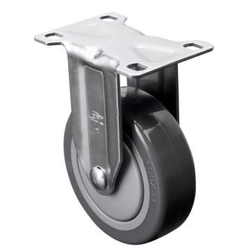 易得力(EDL) 定向聚氨酯(PU)脚轮,脚轮中型4寸130kg,57104-574-77