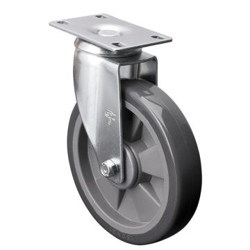 易得力(EDL) 平顶万向聚氨酯(PU)脚轮,脚轮中型6寸130kg,57116-576-77