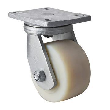 易得力(EDL) 平顶万向尼龙(MC)脚轮,脚轮重磅6寸1600kg,93116-936-26