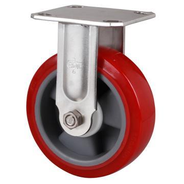 易得力(EDL) 定向高强度聚氨酯(TPU)脚轮,脚轮不锈钢重型6寸420kg,S71706-S716-85