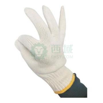 佳盾 700g本白全棉纱线手套,1副(12倍数下单)