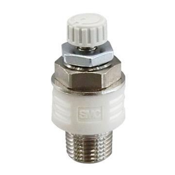 SMC排气型节流阀,带消声器,ASN2-04