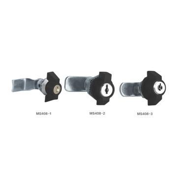 恒珠 转舌锁,机柜锁通开,MS408-3-1,有锁芯,黑色