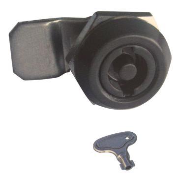 恒珠 转舌锁,机柜锁通开,一字芯,MS705-5-2,黑色,不带钥匙
