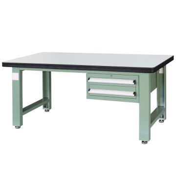 信高(xingo) 重型定制工作台,2100*750*800 绿色台面(防火板台面),XFK-2120,不含安装费