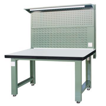 信高(xingo) 重型标准工作台,1500*750*800+936 绿色台面(防火板台面),XFK-1500G,不含安装费