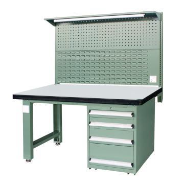 信高(xingo) 重型标准工作台,1500*750*800+936 绿色台面(防火板台面),XFK-1504G,不含安装费
