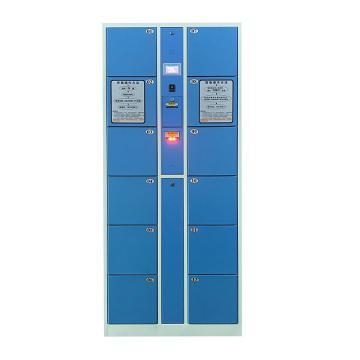 实验室12门条码存衣、存鞋2用柜,外型尺寸:H1800×W850×D460mm,单格尺寸:H280XW300XD460mm
