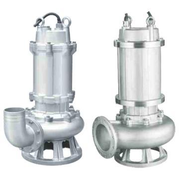 新界 WQ100-30-22S WQ(D)-S系列全不锈钢304潜水排污泵 法兰连接,带出水弯管,标配电缆8米