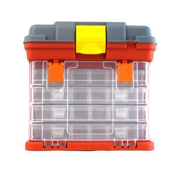 西域推荐 手提零件箱/整理箱/工具箱全新PP料,尺寸:20.5*13*16cm,型号:G-215-4C