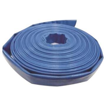 西域推荐 4寸PVC蓝色水带,PUB4.0-20,内径:101.6mm,20米/卷
