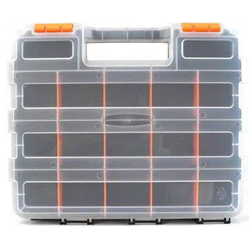 西域推荐 手提零件箱/整理箱/工具箱全新PP料,尺寸:32*27*8,型号:G-322