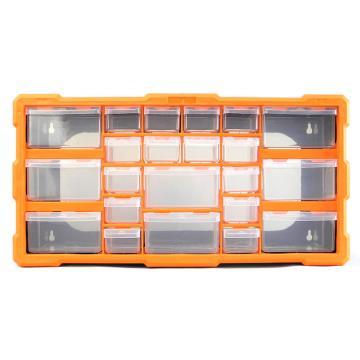 西域推荐 立式零件箱/整理箱/工具箱全新PP料,尺寸:49.5*16*25.5,型号:G-1503
