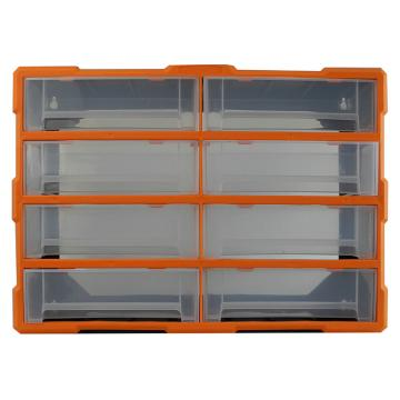 西域推荐 立式零件箱/整理箱/工具箱全新PP料,内隔8盒,尺寸:52*16*37.5cm,型号:G-1508