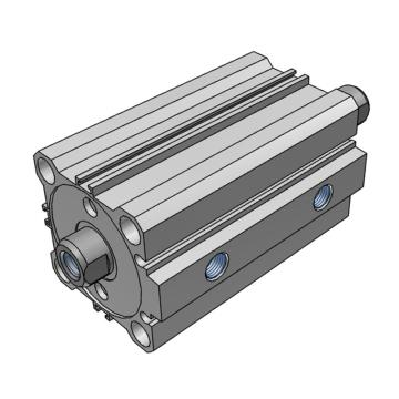 SMC 薄型液压缸,双杆双作用,CHQWB40-25D