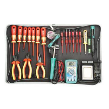 宝工Pro'sKit VDE1000V高压绝缘工具组,25件组,PK-2803BM-CL