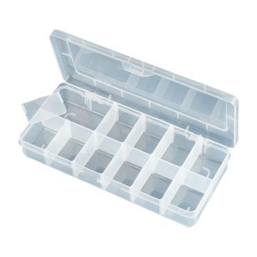 宝工Pro'skit 元器件收纳盒,12格,203-132F,活动零件盒 电子元件盒 零件收纳盒 分隔盒 分格箱