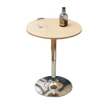 小圆桌,直径80公分 高度86-105cm原木色