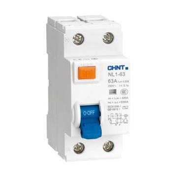正泰CHINT 微型剩余电流保护断路器 NL1-63 3P+N 63A 30mA AC 环保外壳 单漏电保护