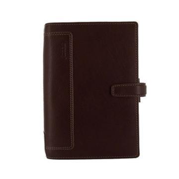 斐来仕 笔记本,025120-1 商务会议全颗粒头层水牛皮活页记事本 A6 棕色