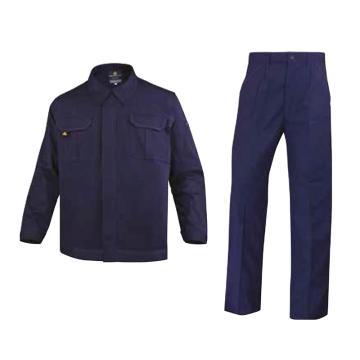 代尔塔DELTAPLUS 防静电工作服套装,405168-BM-XXL,AS100CEN 全棉防静电 藏青色