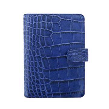 斐来仕 笔记本,26008 Filofax Classiccroc 皮制活页记事本 靛蓝色 A6