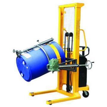 虎力 半电动油桶堆高车,载重:500kg 手动翻转 起升高度1500mm 支腿内宽630mm,DE50