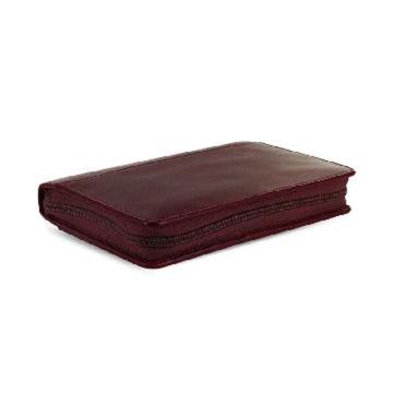 斐来仕 笔记本,21687 Filofax Lockwood 皮制活页记事本拉链包 A6 石榴红色