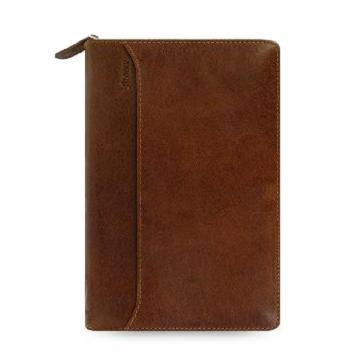 斐来仕 笔记本,21692 Filofax Lockwood 皮制活页记事本拉链包 A6 褐色