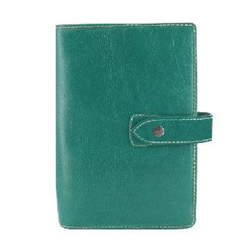 斐来仕 笔记本,025854 珍藏版口袋型全颗粒头层水牛皮活页记事本 A7 水绿色