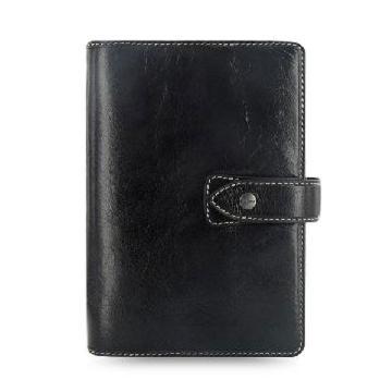 斐来仕 笔记本,025840 珍藏版口袋型全颗粒头层水牛皮活页记事本 A7 黑色