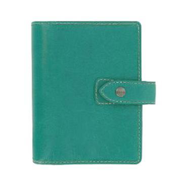 斐来仕 笔记本,025853 珍藏版个人型全颗粒头层水牛皮活页记事本 A6 水绿色