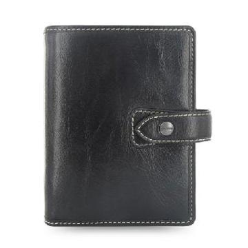 斐来仕 笔记本,025806 珍藏版个人型全颗粒头层水牛皮活页记事本 A6 黑色