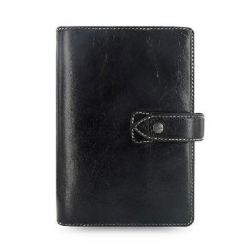 斐来仕 笔记本,025809 珍藏版全颗粒头层水牛皮活页记事本 A5 黑色
