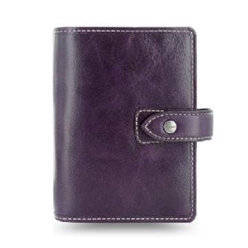 斐来仕 笔记本,025849 口袋型全颗粒头层水牛皮活页记事本 A7 紫色