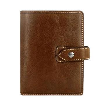 斐来仕 笔记本,025842 口袋型全颗粒头层水牛皮活页记事本 A7 褐色